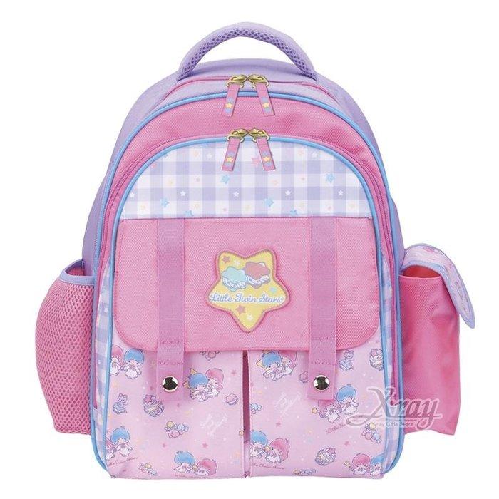X射線【C977213】雙子星Little Twin Stars 香港版超輕量護脊書包L,開學必備/兒童書包/雙肩包/手