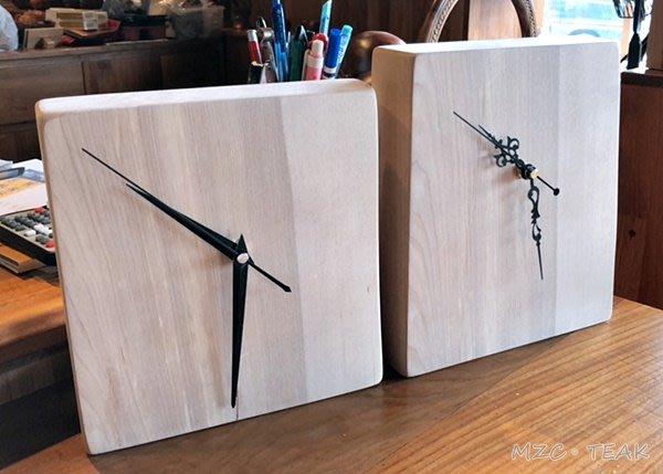 【美日晟柚木】原木時鐘 自然木風格 樺木時鐘 原木桌鐘 原木擺飾 整塊原木 特$900/個