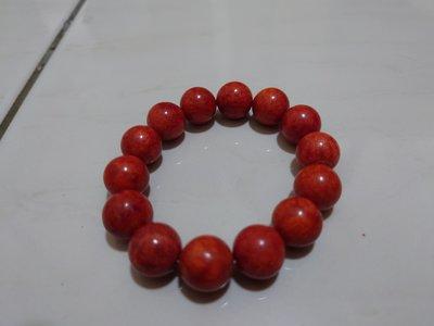 真天然紅珊瑚手環