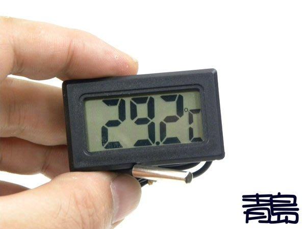 Y。。。青島水族。。。F-089B店長嚴選---口袋型 電子式 液晶顯示 溫度計(防水金屬探頭)==黑色