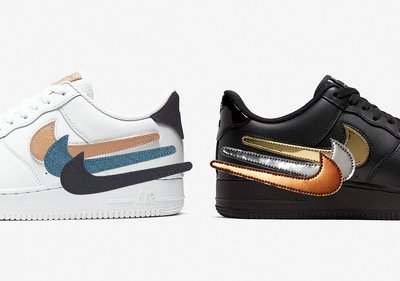 日本代購 Nike Air Force 1 Low Removable Swoosh CT2253-100 CT2252-001(Mona)