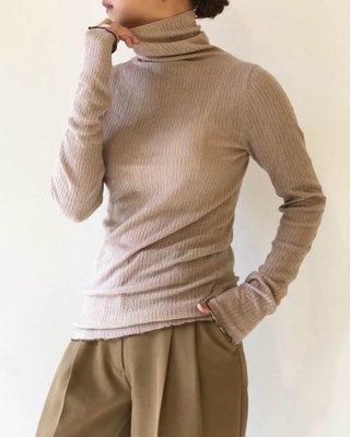 【預購】日本連線TODAYFUL冬19新入荷Jacquard Turtle Knit外縫線針織羊毛混紡高領長袖上衣內搭
