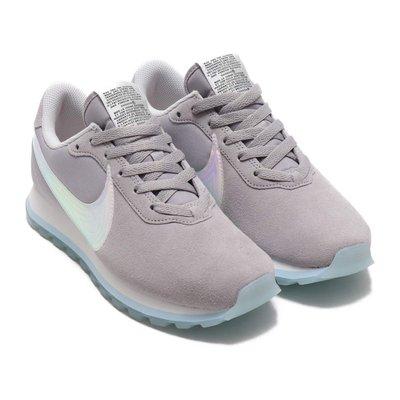 =CodE= NIKE W PRE-LOVE O.X. 彩虹電鍍炫光透氣網復古休閒鞋(灰白) AO3166-001 女