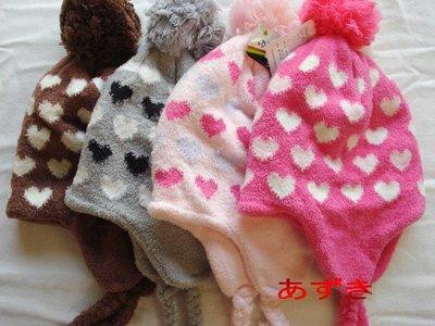 MIT製-[幼童1~5歲專用]雙層針織不掉毛系列-甜心瓣子毛球飛行遮耳帽系列綜合下標區.紅豆商行-