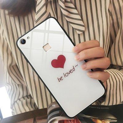 手機殼蘋果安卓卡通透明圖案vivox6手機殼女款vivox6plus玻璃潮韓vivox6s個性創意ins簡約愛心