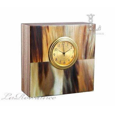 【芮洛蔓 La Romance】Magnet 系列實木紋牛角桌鐘 / 座鐘 / 時鐘