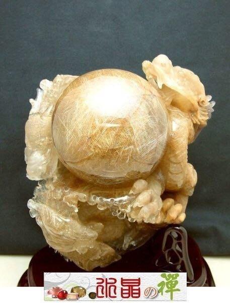 水晶の禪《傳家典藏㊣代銷展覽》這才叫做正白底 24k 金閃耀雙龍搶珠鈦晶雕