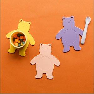 好心情日韓正品雜貨『韓國 DailyLike』BONBON 軟糖小熊矽膠隔熱餐墊 嬰幼兒餐具墊