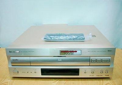 @【小劉2手家電】PIONEER 射碟影機LD放影機/DVD,DVL-909型,可讀DVD、LD,附代用遙控器