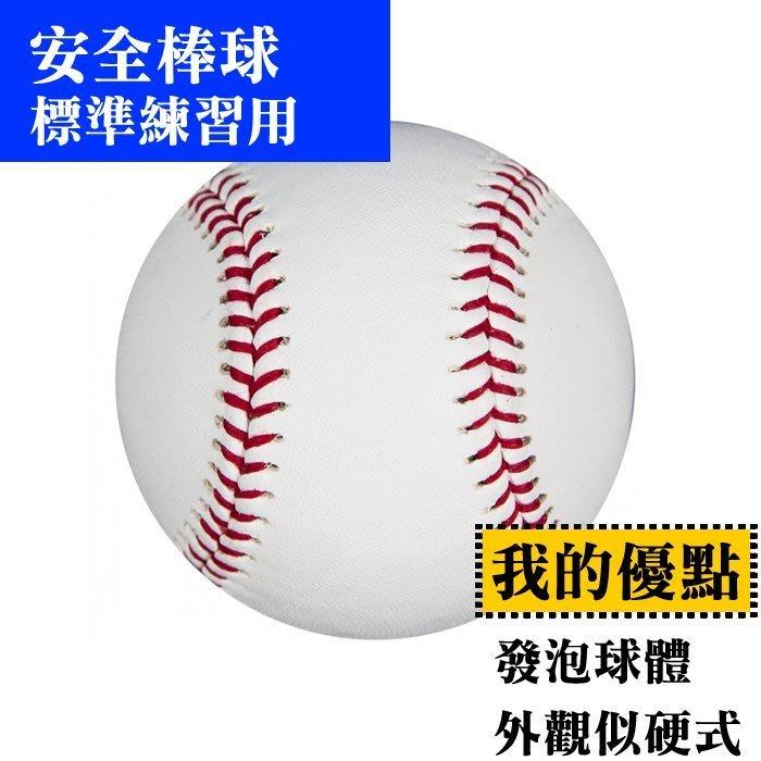 【士博】安全棒球 練習專用 (發泡橡膠球體 大小 外觀都同棒球) 6 顆/ 240元 平均40 /顆