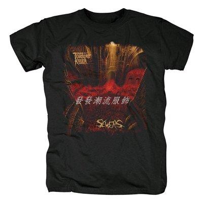 發發潮流服飾死亡重金屬樂隊Torture Killer鞭策金屬個性男士短袖純棉印花T恤