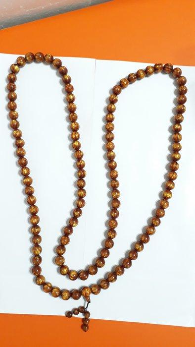 【九龍藝品】金海柳108顆念珠 ~ 珠子約16mm/重量約281公克【 2 】