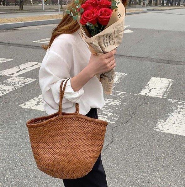 日韓女生都喜歡的美麗皮革編織包