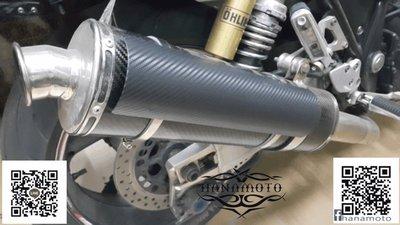 大型重機驗車排氣管防燙片  哈雷 碳纖銀+9.5CM不銹鋼束環 XL883 1200 48 72 DYNA 專用束環尺寸