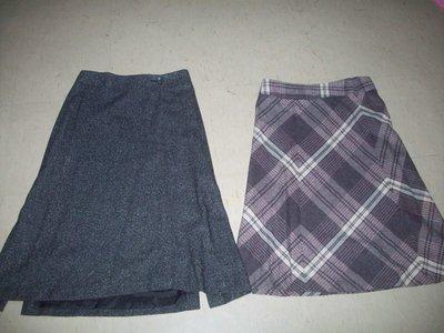 班馬線灰色裙+格子及膝裙  2件合賣150含運