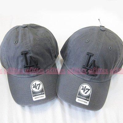 glitter。全新現貨 47Brand MLB LA Los Angeles Dodgers 道奇隊 鐵灰色 老帽