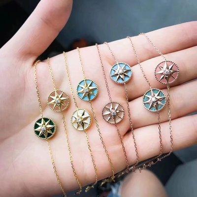 Dior 迪奧 Rose Des Vents 系列 同款 雙面 鑲鑽版本 彩釉版本 幸運 星星 手鏈 手鐲 頂級版本