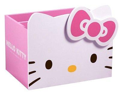 【羅曼蒂克專賣店五館】KT-0569 正版 Hello Kitty 頭型收納盒 筆筒...另有收納櫃