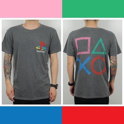 Cover Taiwan 官方直營 Sony Playstation PS 電玩 復古 短Tee 短袖 嘻哈 水洗 灰色