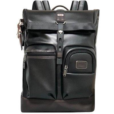 男人館 TUMI/途米 JK114 男女款牛皮真皮(大號)商務電腦雙肩背包時尚休閒旅行大容量後背包書包