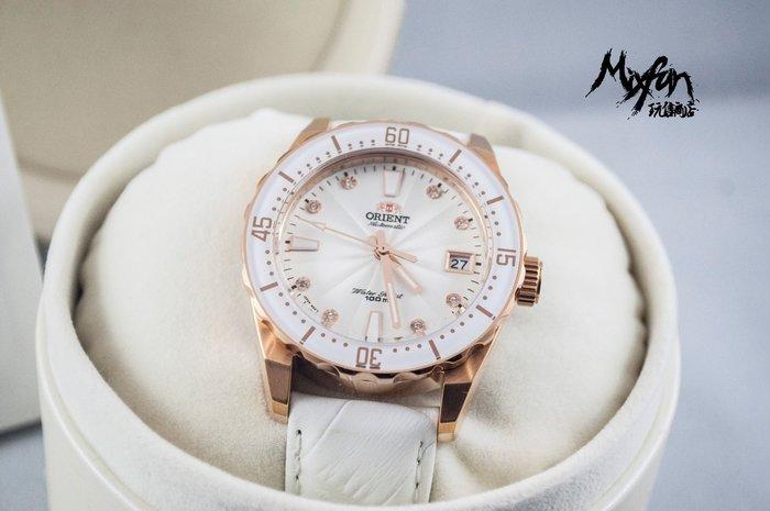 日本東方錶 ORIENT ,氣質玫瑰金錶款,WJFAC0A003W (免運費)