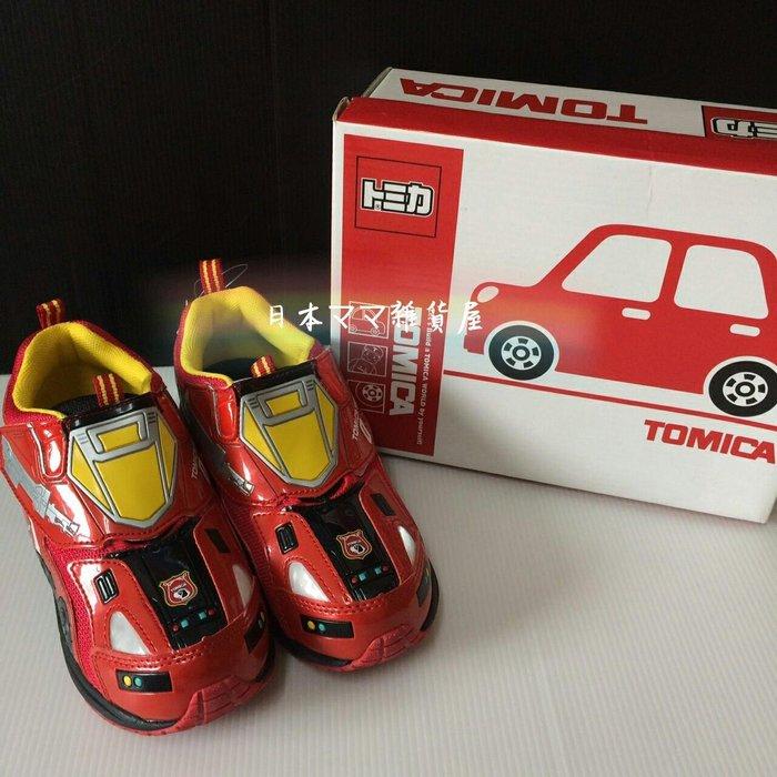 日本帶回 TOMICA男童鞋 19cm 紅(全新品有鞋盒)隨機送一台TOMICA小車(二手品)