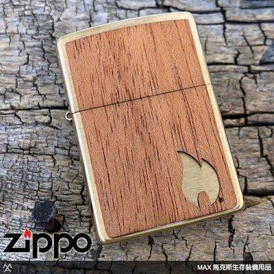 馬克斯 ZIPPO 打火機(ZP636) Woodchuck Brushed Brass 2 sides - 29901