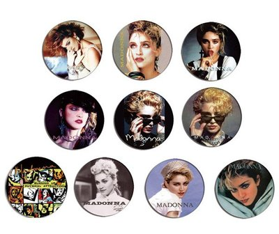 現貨 MADONNA 80's Portrait pinback BADGE SET 3a 襟章 徽章 (一套10個)