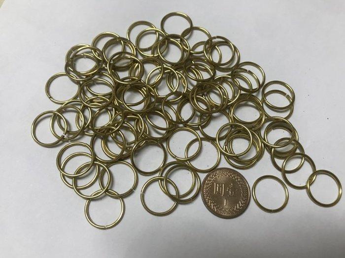 (現貨)G-081 正常款1.2x15mm 純銅線切割開口銅圈 黃銅平口圓環切口C型扣馬蹄扣財布配飾連接鑰匙圈環扣DIY