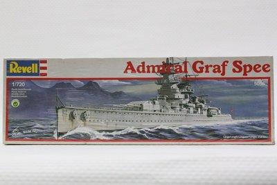 【統一】REVELL《德國納粹施佩伯爵海軍上將號 裝甲重巡洋艦Admiral Graf Spee》1:720# 5056