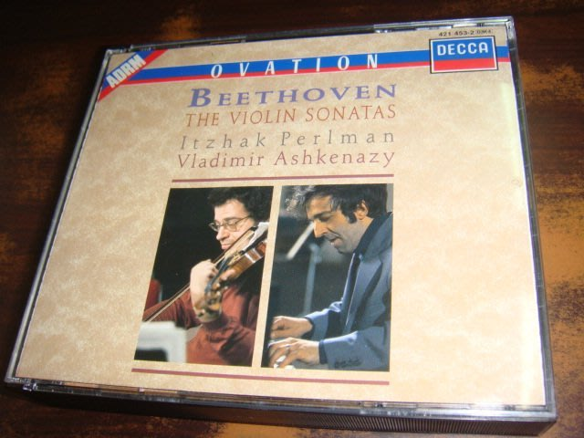 好音悅 半銀圈 帕爾曼 Perlman Ashkenazy 貝多芬 小提琴奏鳴曲 全輯 4CD DECCA 德PMDC版