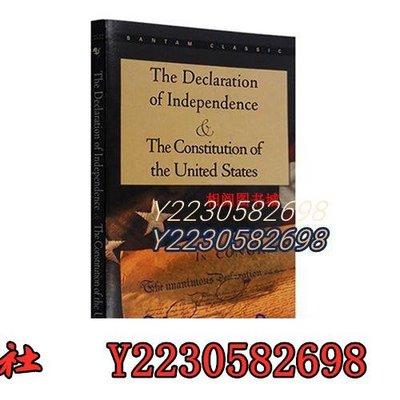 青衣書社 能量 療愈 英文原版 獨立宣言Y與美國憲法 The Declaration of IndependenceQy739