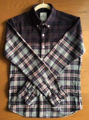 uniform experiment shirt  法蘭絨 長袖 SPRAY FLANNEL CHECK SOPH 漸層