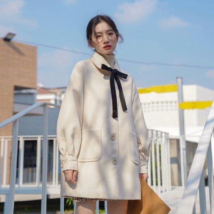 SEYES  雜誌款設計感領結兩穿大衣外套