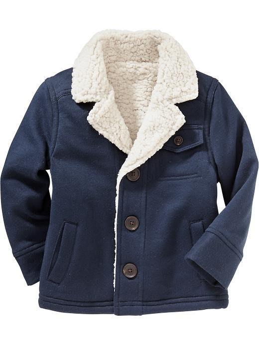 【Nichole's歐美進口優質童裝】Old Navy 男童 海軍藍羔羊絨襯裡保暖外套*Carter's/OshKosh