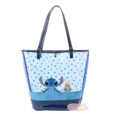 日本迪士尼 史迪奇 海灘包 防水提袋。現貨【Fun心購】