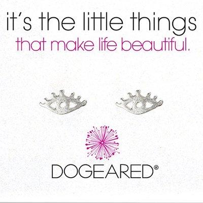 Dogeared 可愛眨眼耳環 銀色眼睛耳環 925純銀 EYE LASHES 附原廠盒