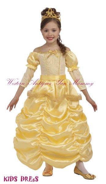 妍媽咪兒童禮服出租~大童迪士尼貝兒公主造型服~萬聖節表演派對寫真