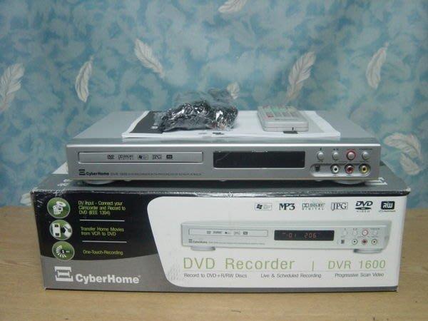 【小劉家電】銷美庫存cyberhome全新的 DVD錄放影機,可預約錄影第4台,可轉拷VHS成DVD