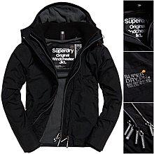 跩狗嚴選 極度乾燥 Superdry Arctic 經典款 三排拉鍊 刷毛 連帽 風衣 外套 黑 岩石灰