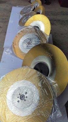 不鏽鋼白鐵切割專用鍍鈦鋸片6孔歐洲進口金工圓鋸機切割機專用鍍鈦白鐵切割鋸片專業用HSS225*2.0*32 Z200