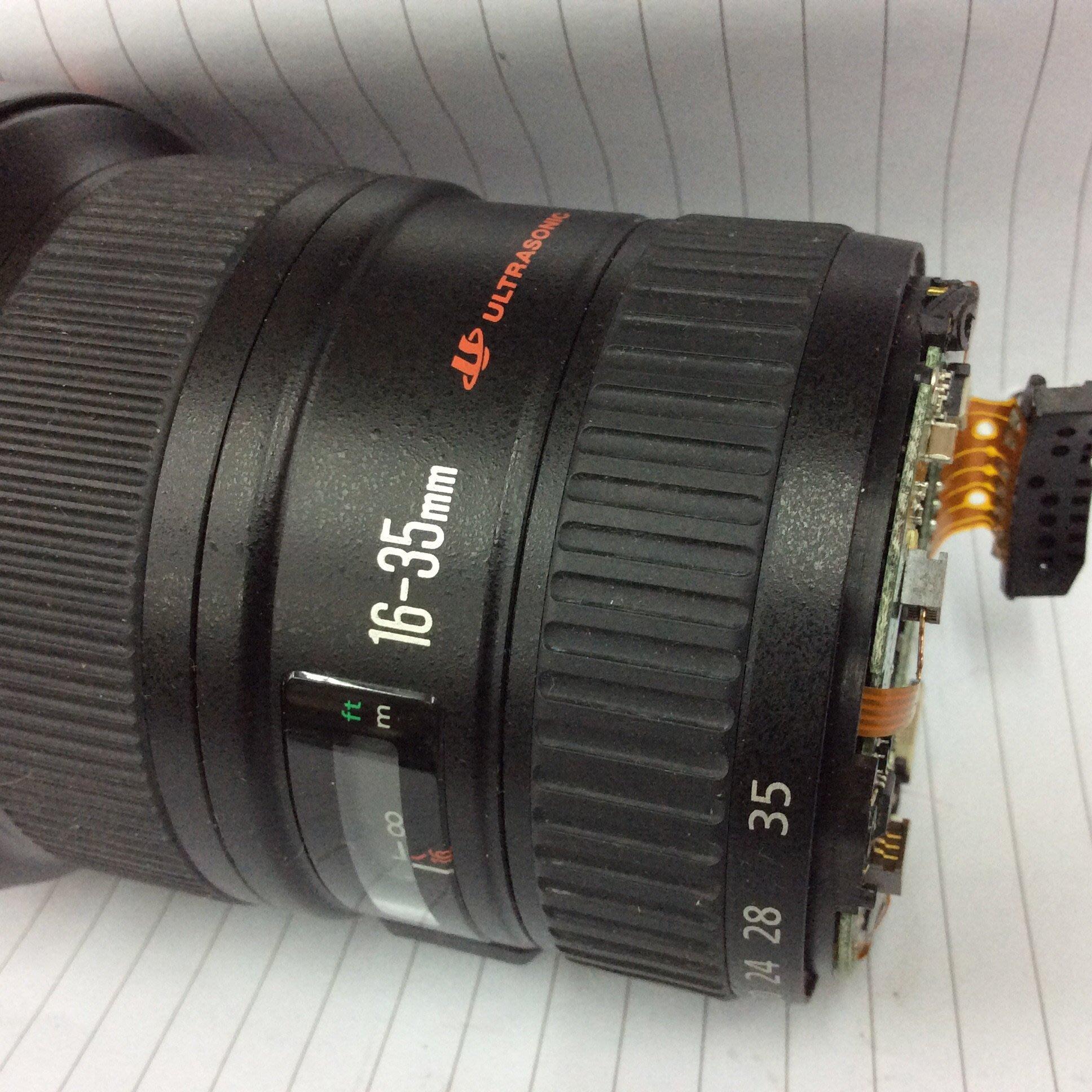 【明豐相機維修 ] Canon EF 16-35mm f2.8 L USM 支架筒 斷 更換維修服務 17-40mm