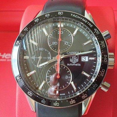 TAG HEUER 豪雅 CARRERA 卡萊拉 7750計時機芯 透明錶背 盒單齊全