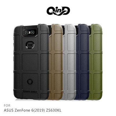 *phone寶*QinD ASUS ZenFone 6 ZS630KL 戰術護盾保護套 防摔殼 軟殼 TPU套 保護殼