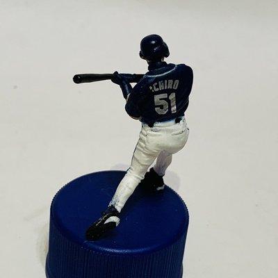 貳拾肆棒球~絕版品! 帶回 美國職棒大聯盟MLB鈴木一朗ichiro客場打擊動作 公仔PEPSI瓶蓋板 極稀少
