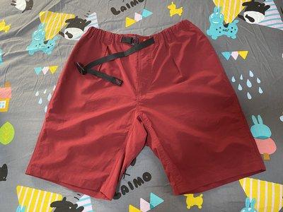 BEAMS GRAMICCI 聯名 聚酯纖維布料 機能布料 紅色 短褲