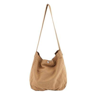 單肩包 帆布 手提包-大容量簡約復古純色女包包3色73wo38☆奧莉芙☆