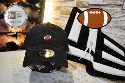New Era Branded Mini Football Black Adjustable NE迷你美式足球黑色彎帽