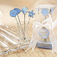 *╮幸福氛圍婚品館╭*歐美婚禮小物~海洋水果叉4件組