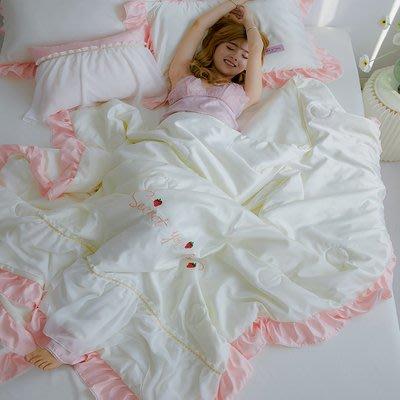 [涼被床包] 2020公主風水洗真絲涼感春夏床包4件組(被套+床單+枕套) CP值高 少女心 又美又好用